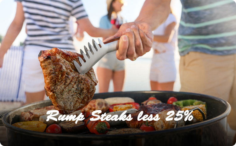 Rump Steak less 25%